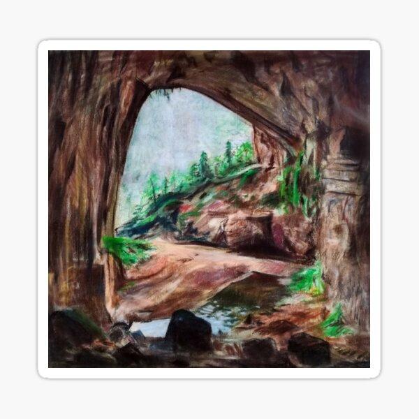 Der See in der Höhle Sticker