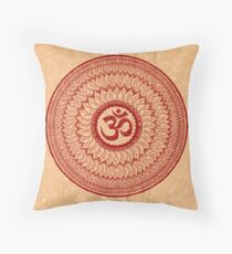 om mandala (liáliom) Throw Pillow