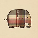 Plaid Elephant  by Terry  Fan