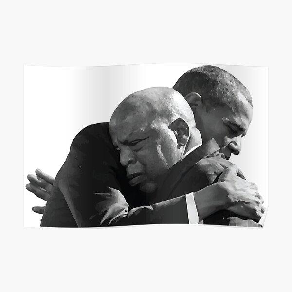 PRESIDENT BARACK OBAMA HUGS REP. JOHN LEWIS ON BLOODY SUNDAY ANNIVERSARY Poster