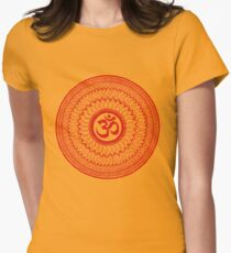 Camiseta entallada para mujer om mandala (liáliom)