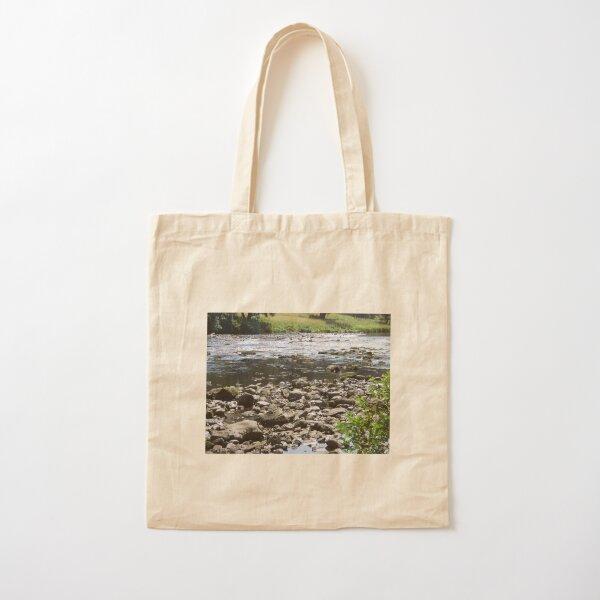 Merch #98 -- Stream Stones - Shot 1 (Hadrian's Wall) Cotton Tote Bag