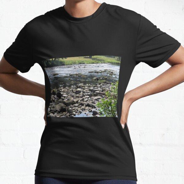 Merch #98 -- Stream Stones - Shot 1 (Hadrian's Wall) Active T-Shirt
