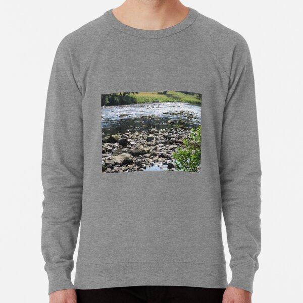 Merch #98 -- Stream Stones - Shot 1 (Hadrian's Wall) Lightweight Sweatshirt
