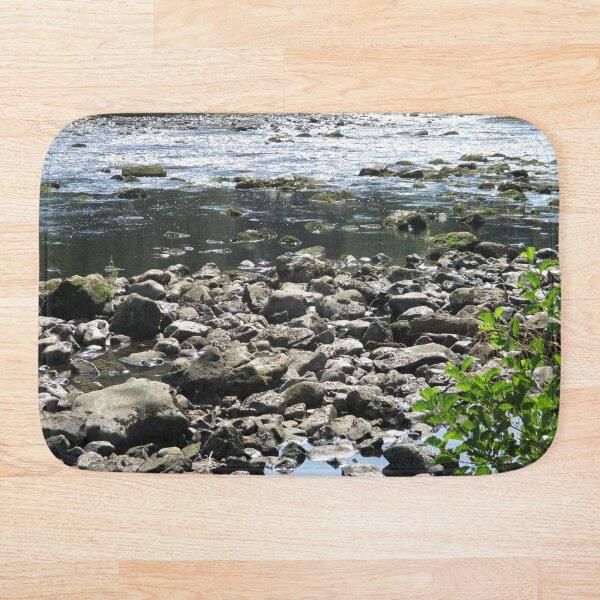 Merch #98 -- Stream Stones - Shot 1 (Hadrian's Wall) Bath Mat