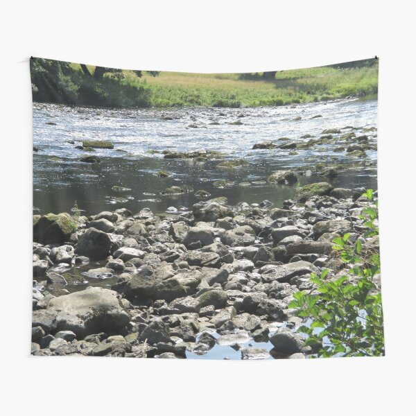 Merch #98 -- Stream Stones - Shot 1 (Hadrian's Wall) Tapestry