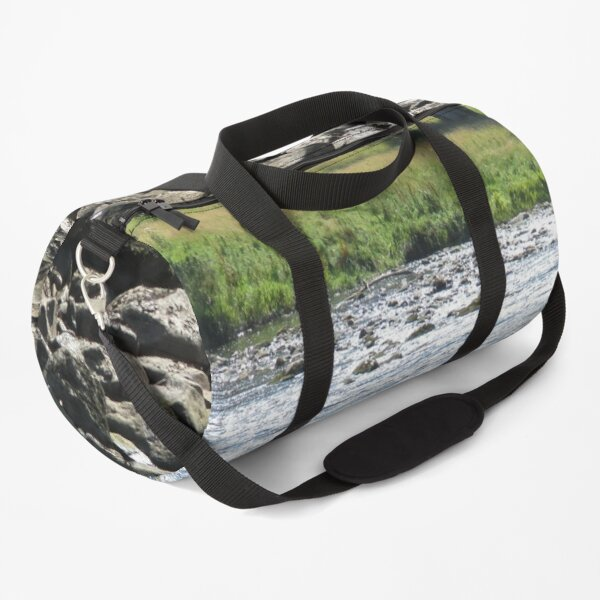 Merch #98 -- Stream Stones - Shot 1 (Hadrian's Wall) Duffle Bag