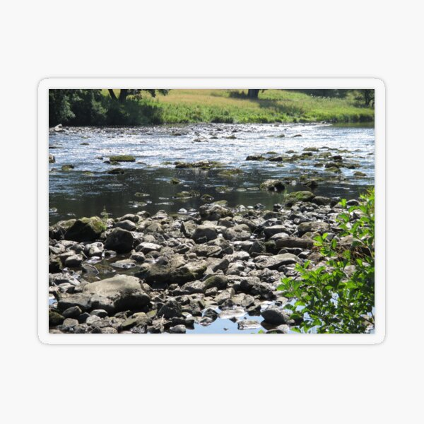Merch #98 -- Stream Stones - Shot 1 (Hadrian's Wall) Transparent Sticker