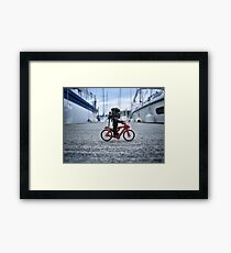 Training: bicycle Framed Print