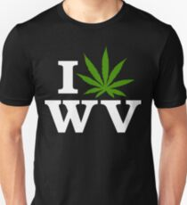 I Love West Virginia Marijuana Cannabis Weed T-Shirt Unisex T-Shirt