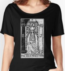 The High Priestess Tarot Card - Major Arcana - fortune telling - occult Women's Relaxed Fit T-Shirt