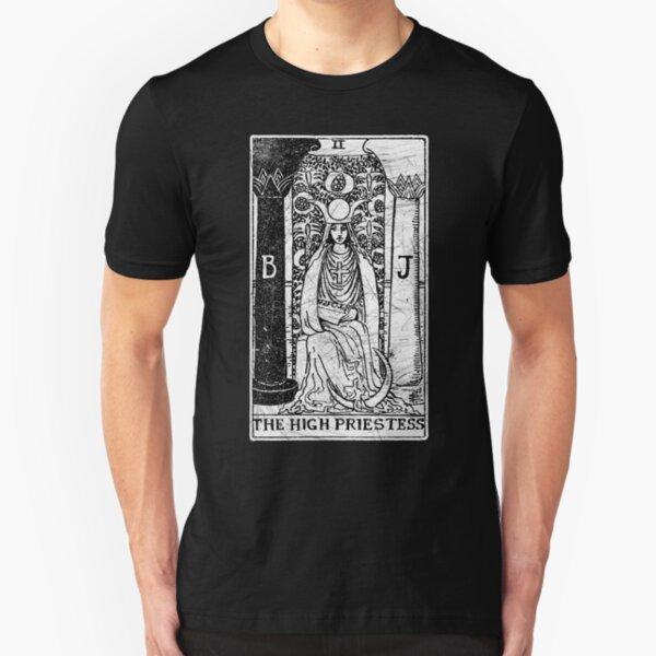 Die Hohepriesterin Tarot Card - Major Arcana - Wahrsagerei - okkult Slim Fit T-Shirt