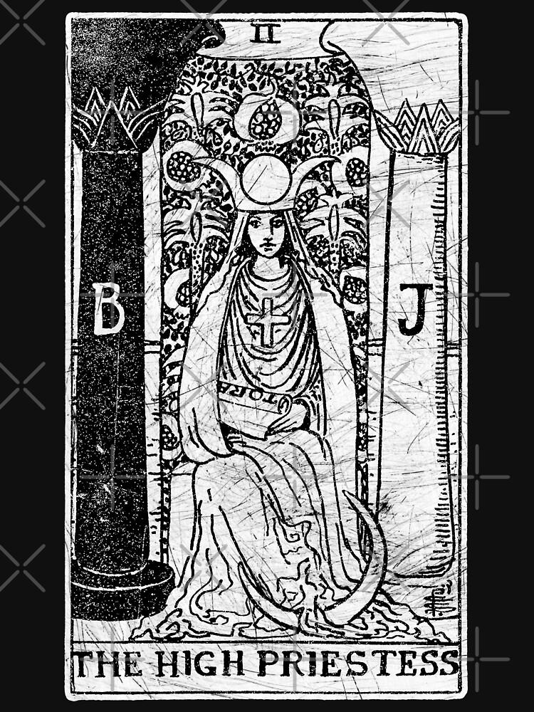 The High Priestess Tarot Card - Major Arcana - fortune telling - occult by createdezign