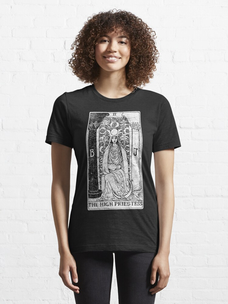 Alternate view of The High Priestess Tarot Card - Major Arcana - fortune telling - occult Essential T-Shirt