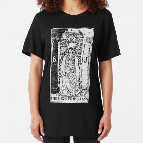 The High Priestess Tarot Card - Major Arcana - fortune telling - occult Slim Fit T-Shirt