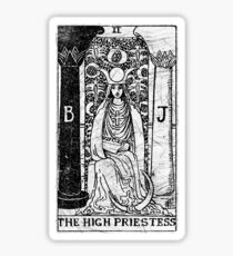 The High Priestess Tarot Card - Major Arcana - fortune telling - occult Sticker
