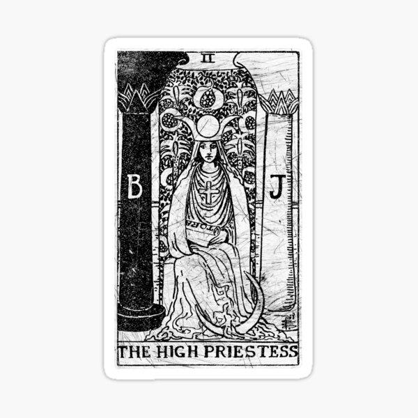 The High Priestess Tarot Card - Major Arcana - fortune telling - occult Sticker