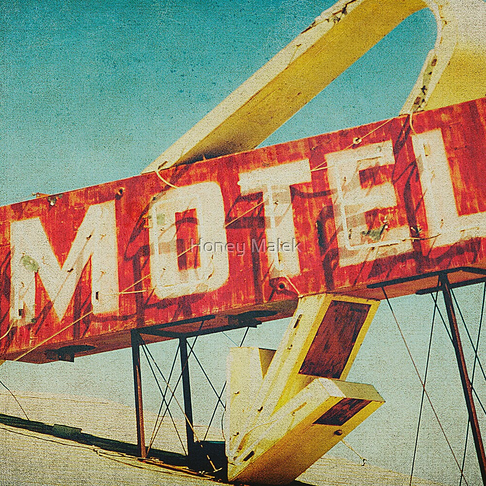 Thrashed Motel Sign by Honey Malek
