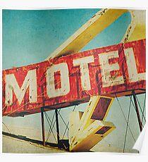 Thrashed Motel Sign Poster