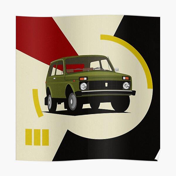 """früher Lada Niva oder VAZ-2121 genannt (russisch: Лада Нива; Niva (нива) ist das russische Wort für """"Feld"""", bedeutet aber Erntefeld) Poster"""