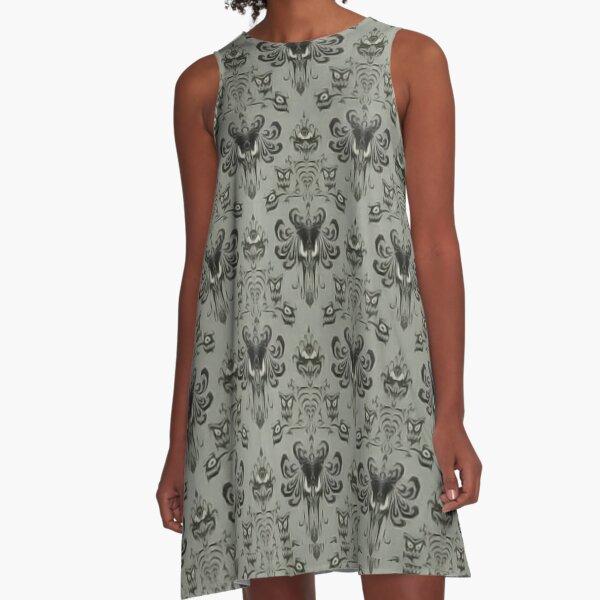 Die Geistervilla Wallpaper A-Linien Kleid