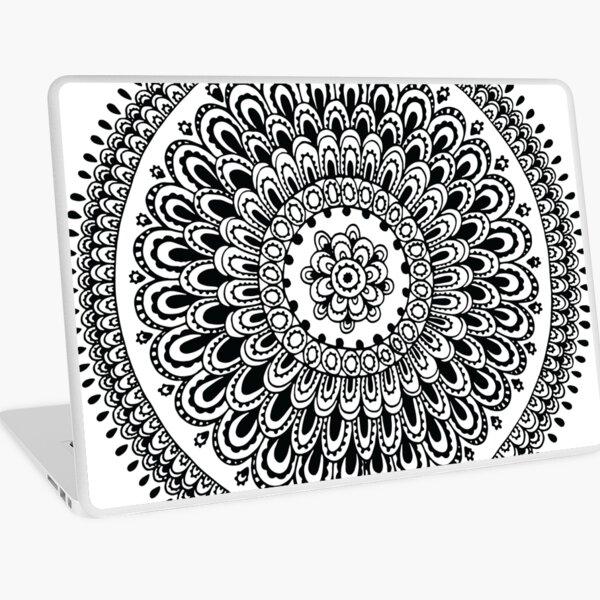 Mandala Black and White by Hayley Lauren Design Laptop Skin