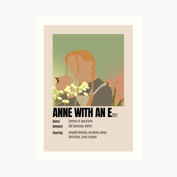 Anne con un cartel minimalista e Lámina artística