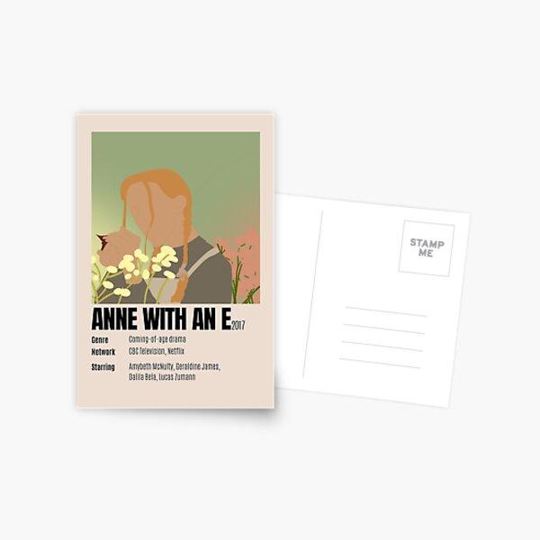 Anne avec une affiche minimaliste Carte postale