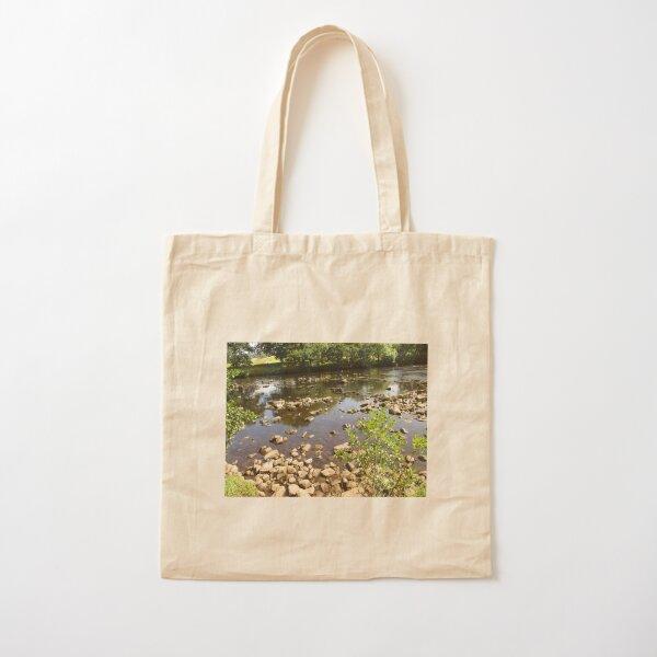 Merch #99 -- Stream Stones - Shot 2 (Hadrian's Wall) Cotton Tote Bag
