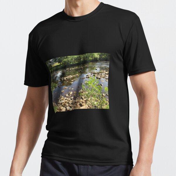 Merch #99 -- Stream Stones - Shot 2 (Hadrian's Wall) Active T-Shirt