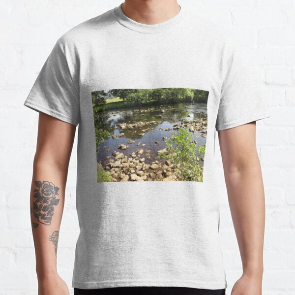 Merch #99 -- Stream Stones - Shot 2 (Hadrian's Wall) Classic T-Shirt