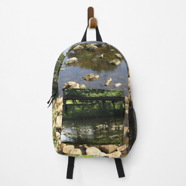Merch #99 -- Stream Stones - Shot 2 (Hadrian's Wall) Backpack