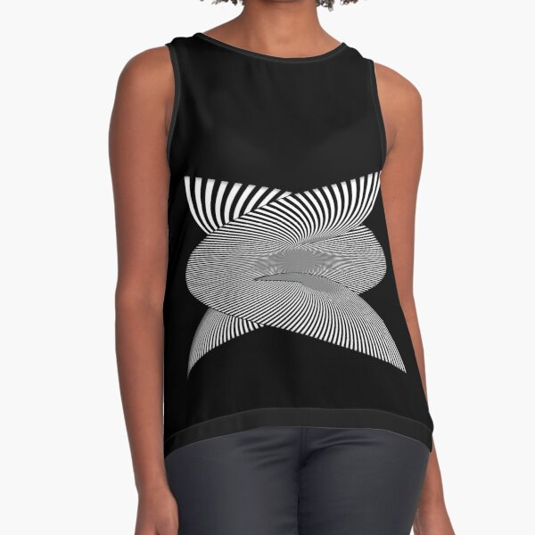 Whirly-Gig OpArt Sleeveless Top