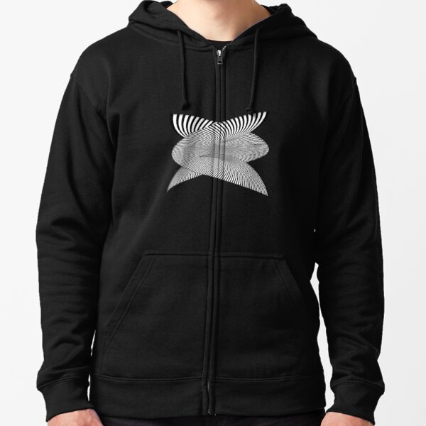 Whirly-Gig OpArt Zipped Hoodie
