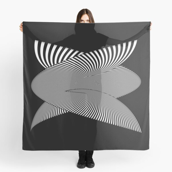 Whirly-Gig OpArt Scarf