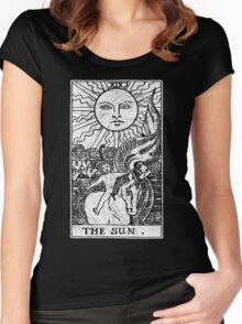 The Sun Tarot Card - Major Arcana - fortune telling - occult Women's Fitted Scoop T-Shirt