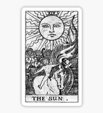 The Sun Tarot Card - Major Arcana - fortune telling - occult Sticker