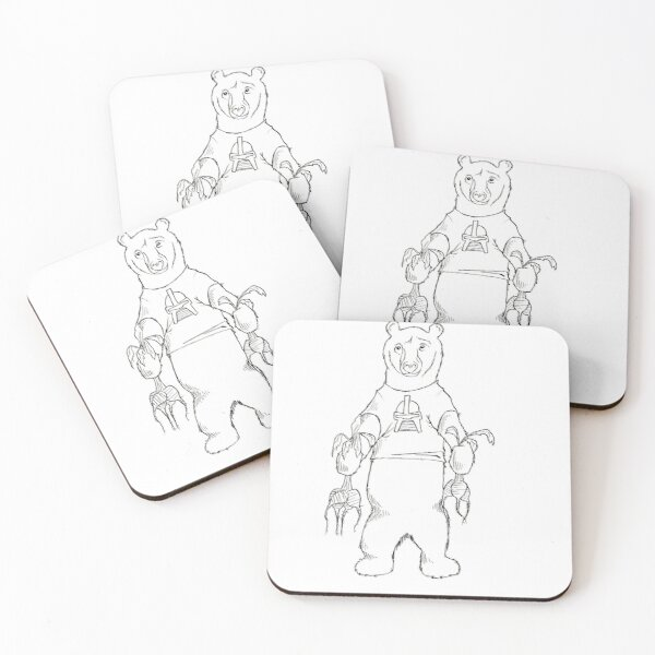 Bears Beets Battlestar Galactica Coasters (Set of 4)