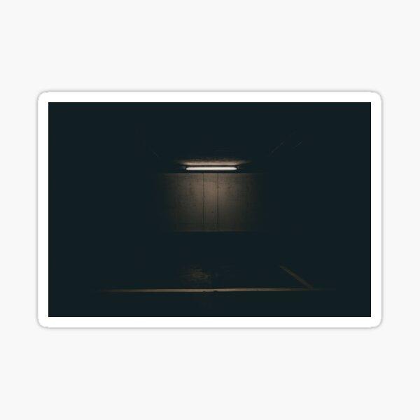 Lamp Light Dark Background Sticker
