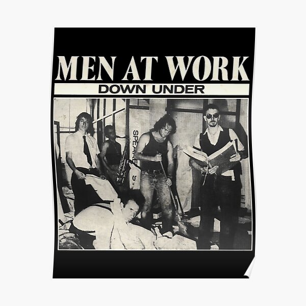 "Men At Work ""Down Under"" Australian Rock Band Classic Seventies. Poster"