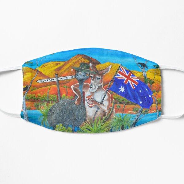 'Flinders Ranges Dinkum Mates Bush Bash' Flat Mask