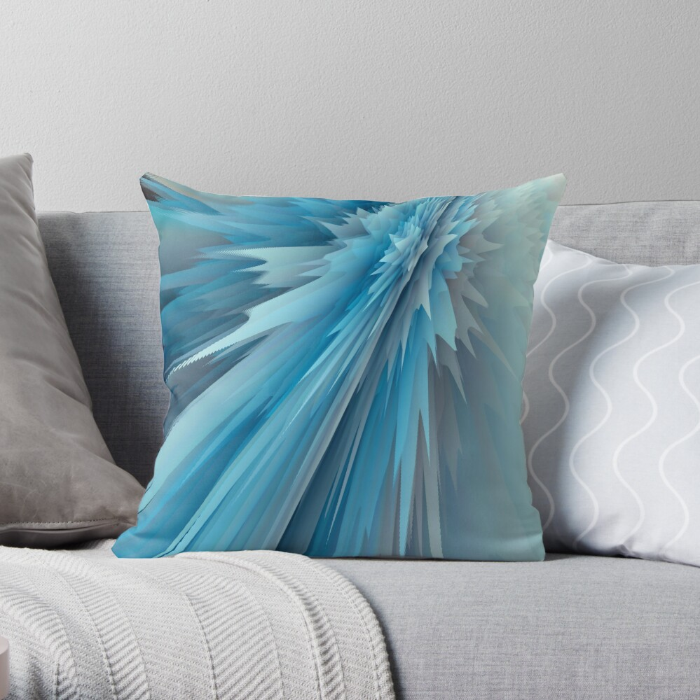 Abstract acrylics patterns Crystal madness design collection 003 Throw Pillow