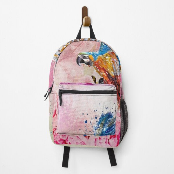 Parrot abstract watercolor Backpack