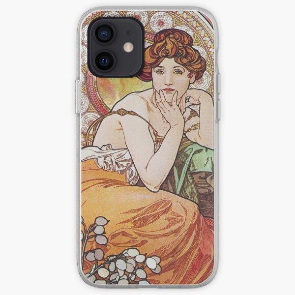 Alphonse Mucha - Topaz iPhone Soft Case