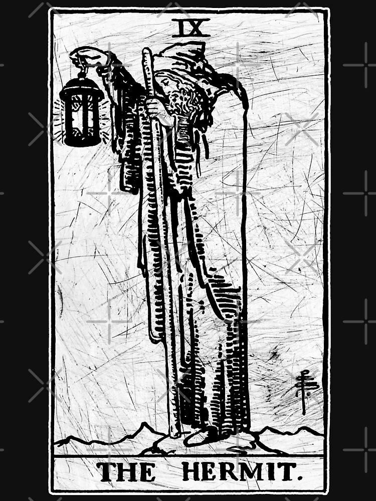 The Hermit Tarot Card - Major Arcana - fortune telling - occult by createdezign