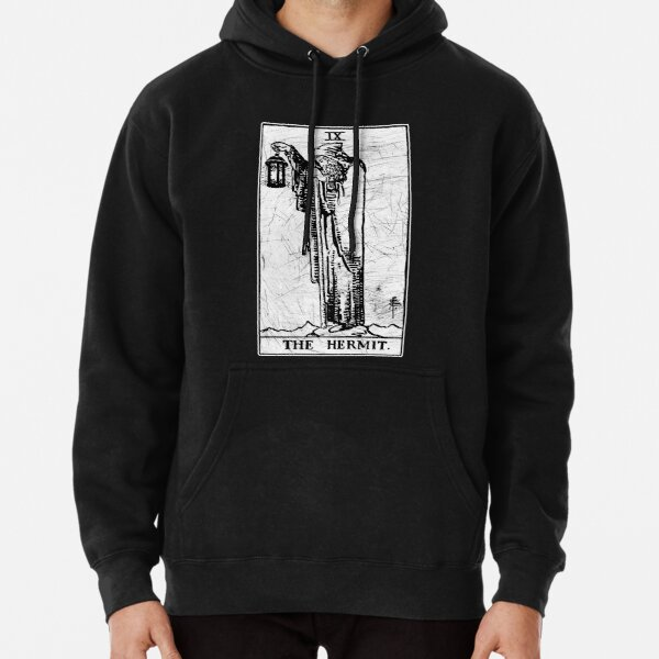 The Hermit Tarot Card - Major Arcana - fortune telling - occult Pullover Hoodie