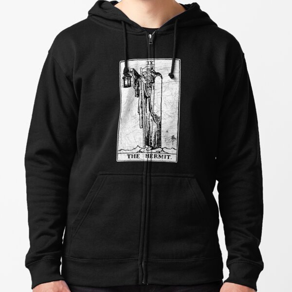The Hermit Tarot Card - Major Arcana - fortune telling - occult Zipped Hoodie
