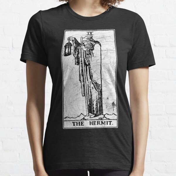 The Hermit Tarot Card - Major Arcana - fortune telling - occult Essential T-Shirt