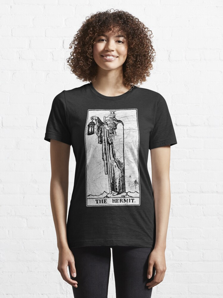 Alternate view of The Hermit Tarot Card - Major Arcana - fortune telling - occult Essential T-Shirt