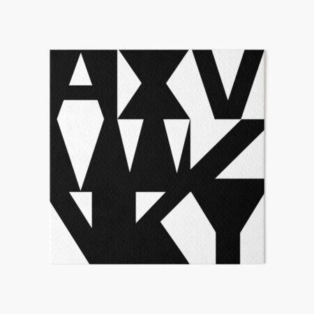 AXMVWZNKY Art Board Print